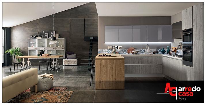Industrial style in cucina arredo casa roma for Arredamento stile industriale roma