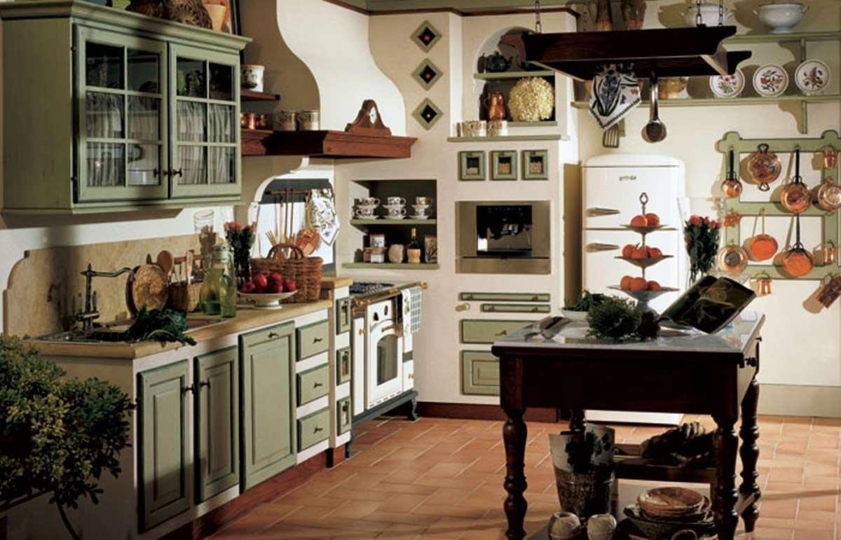 Arredamento Cucina Autunnale con colore Verde