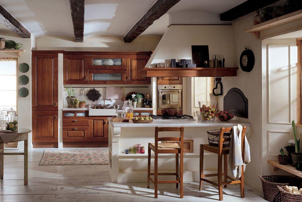 Il piano in pietra nelle cucine classiche