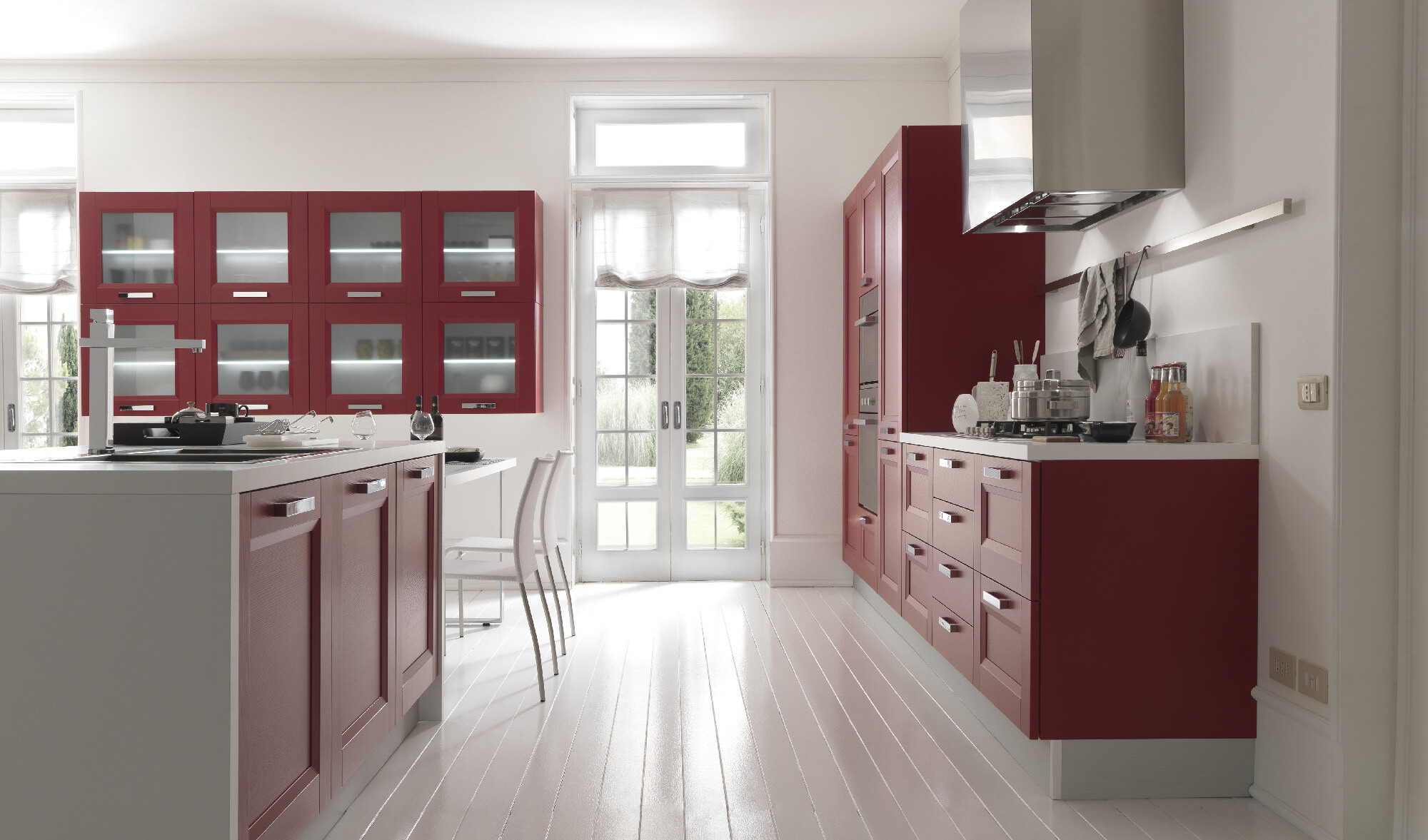 Catalogo Cucine Moderne Febal.Cucina In Rosso Passione Contemporanea Arredo Casa Roma