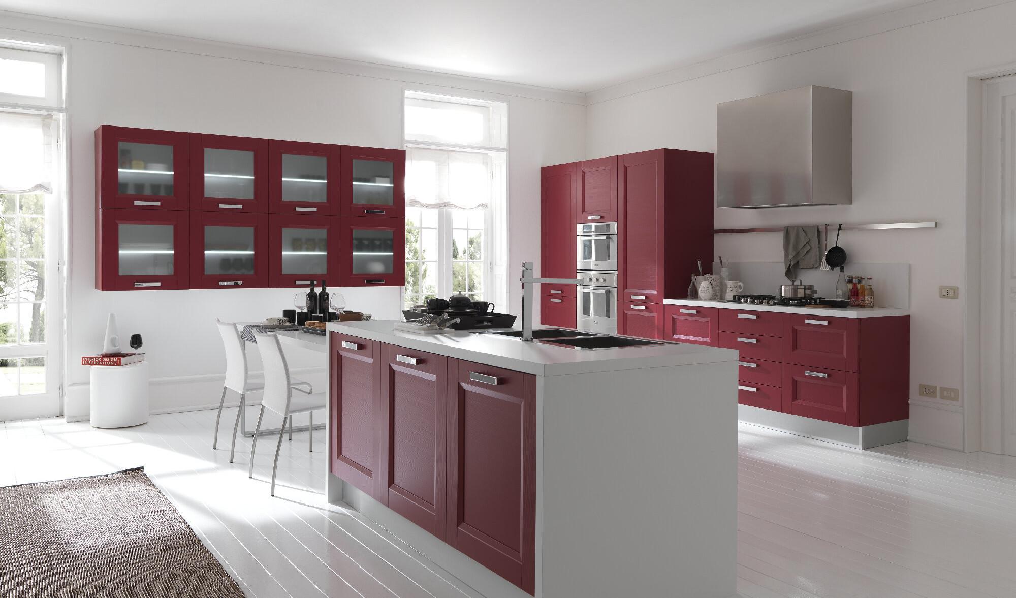 Cucina in rosso passione contemporanea arredo casa roma - Febal cucine prezzi ...